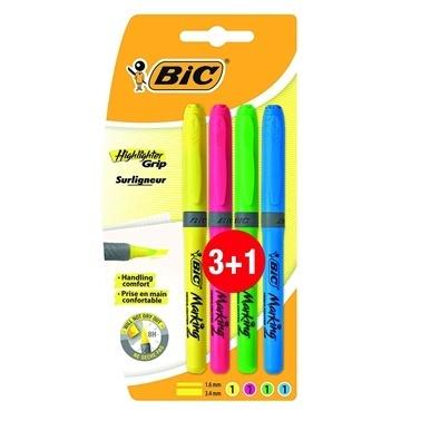 Bic Fosforlu Kalem 3+1 Renkli